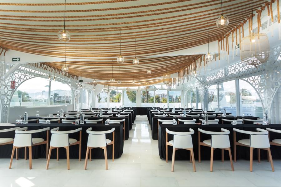 Montaje para evento de empresa en Mirador Playa Granada