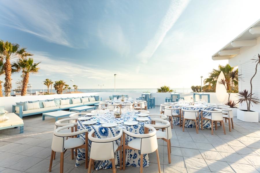 Terraza para celebrar eventos frente al mar