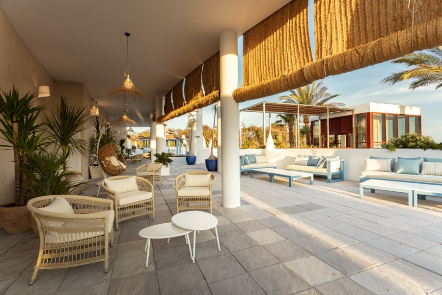 Zona de descanso en Midador Playa Granada