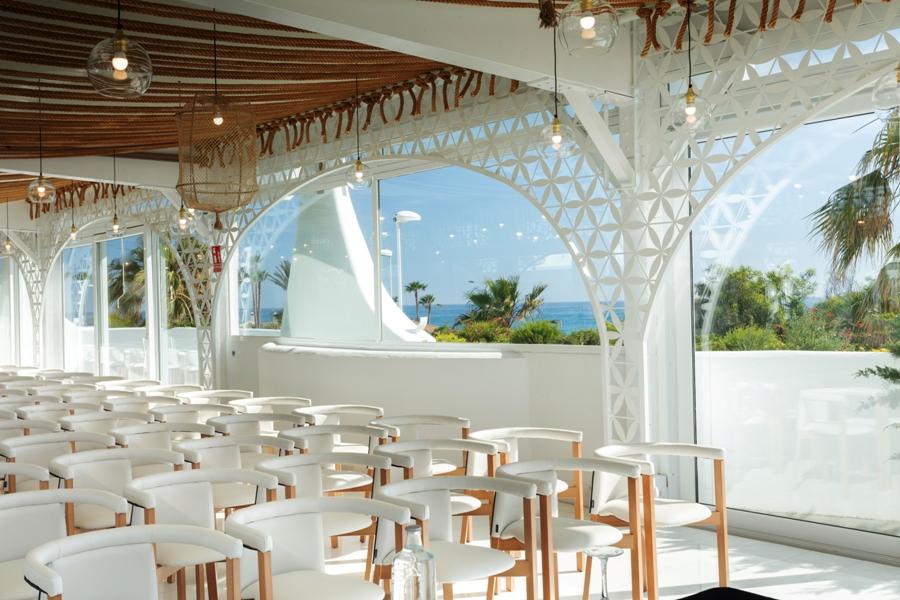 Vistas desde el salón de eventos de Mirador Playa Granada