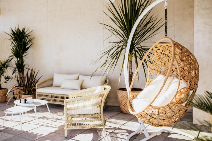 Zona relax en Mirador Playa Granada