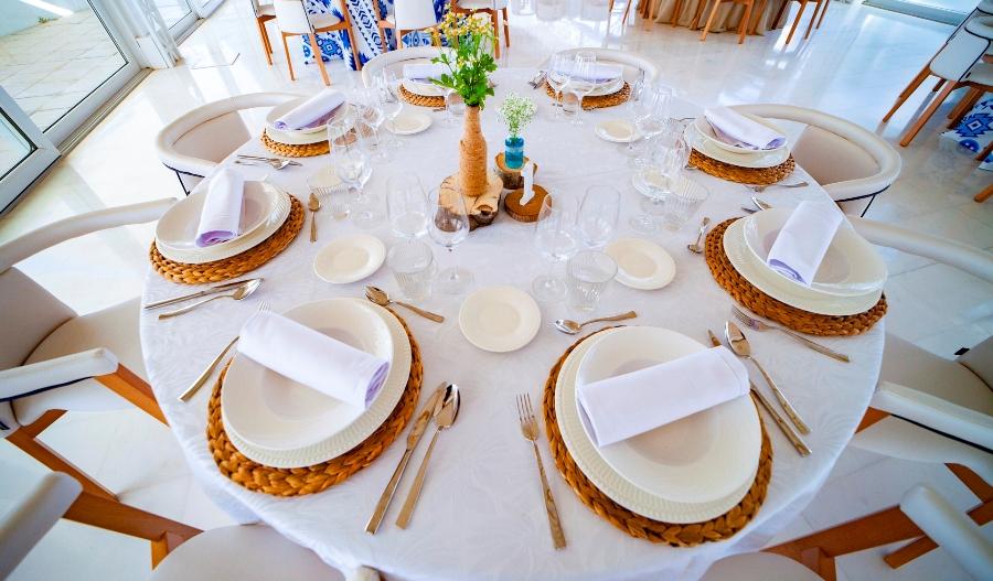 Montaje de mesa para boda