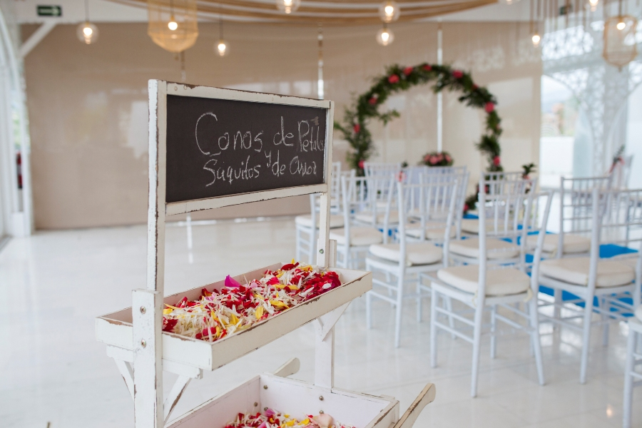 Montaje para boda civil en interior
