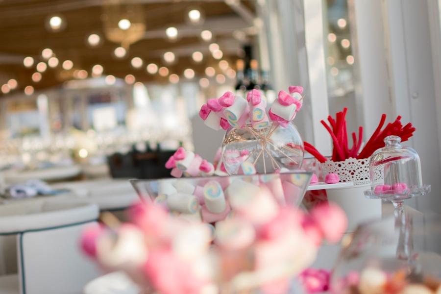 Mesa dulce para celebración de boda